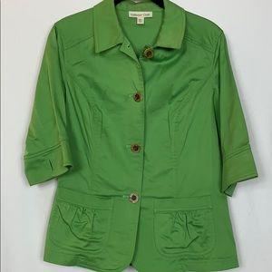 Coldwater Creek green size 10 blazer short sleeved